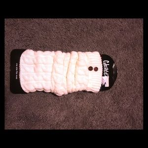 Off white leg warmer set